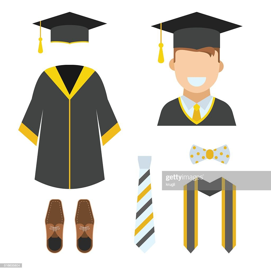 Graduation Garment and Accessories Icons