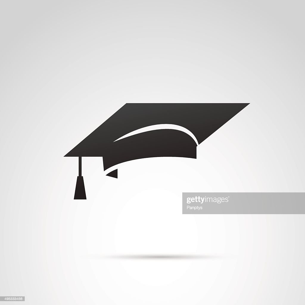 Graduation hat icon.