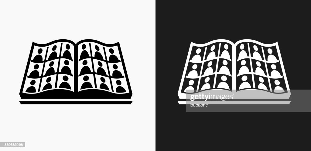 Graduation Icon on Black and White Vector Backgrounds
