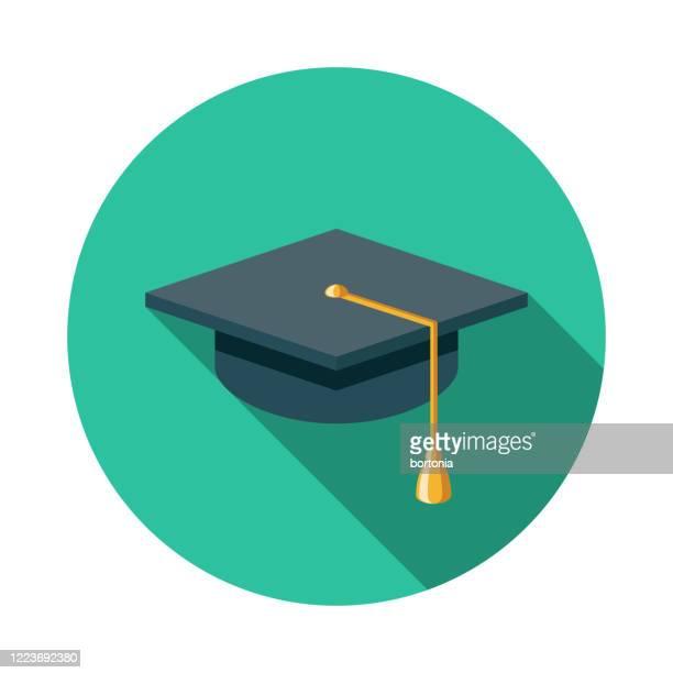illustrations, cliparts, dessins animés et icônes de icône d'apprentissage électronique de mortier de graduation - chapeau