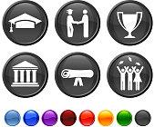 graduation royalty free vector icon set