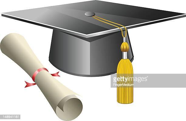graduation - rolled up pants stock illustrations