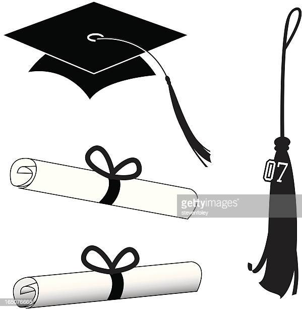 graduation - tassel stock illustrations