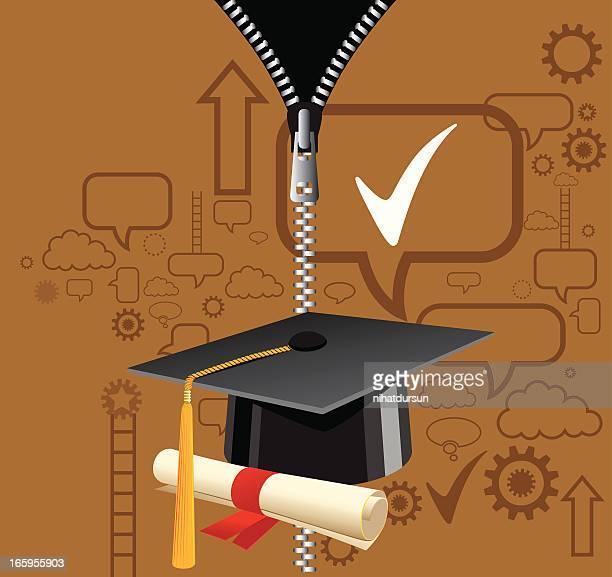 graduation - religious dress stock illustrations, clip art, cartoons, & icons