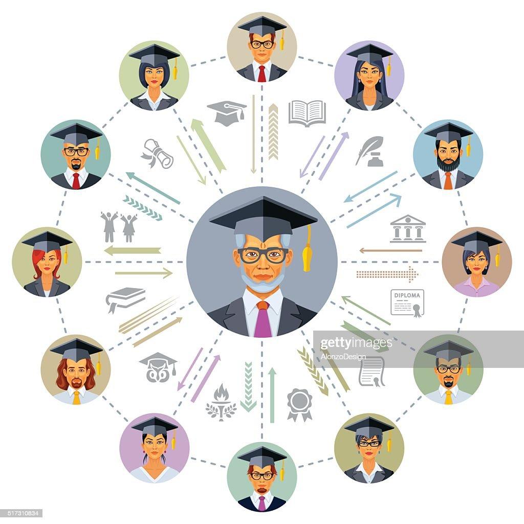 Graduation : stock illustration