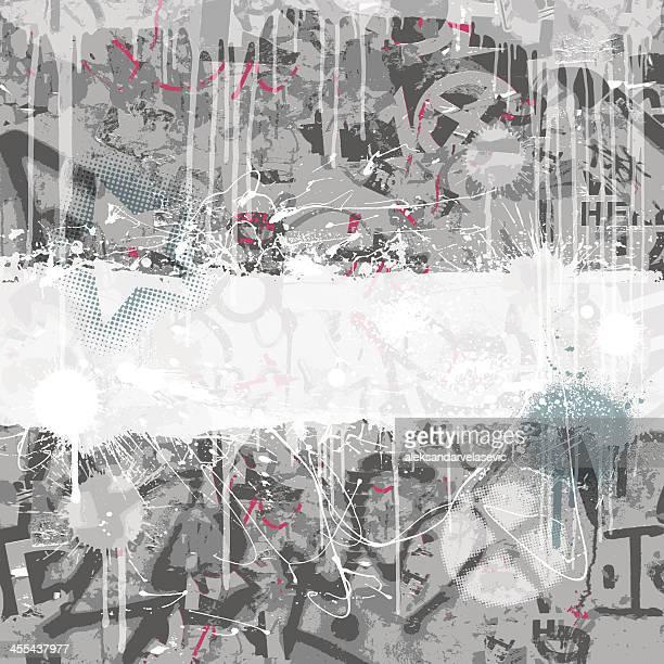 ilustrações de stock, clip art, desenhos animados e ícones de fundo de graffiti - hip hop