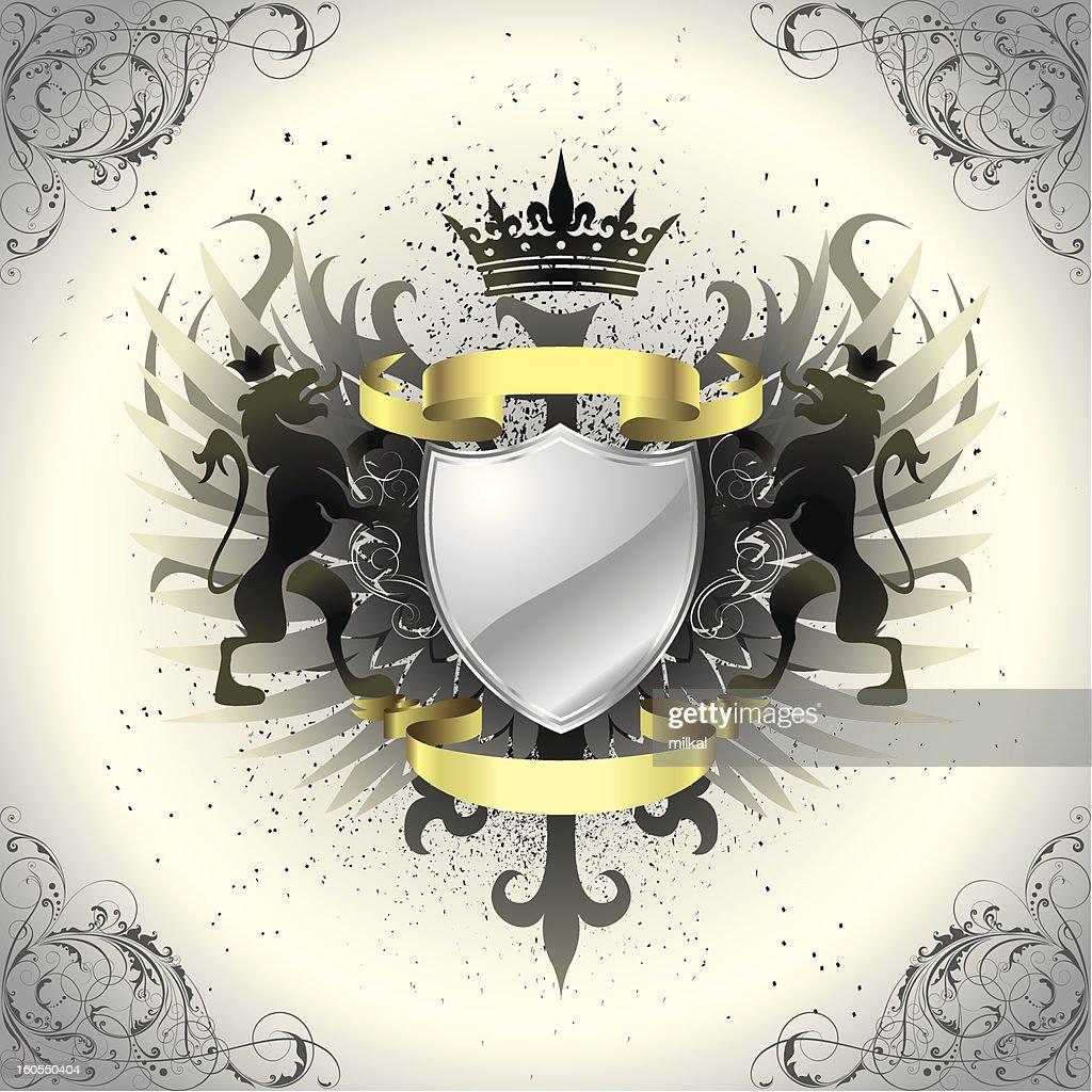 Graffiti grunge heraldry