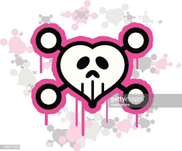 Graffiti Heart Skull
