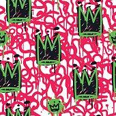 Graffiti Seamless Pattern Color