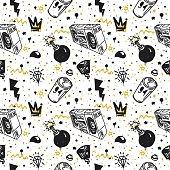 graffiti seamless pattern