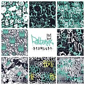 Graffiti seamless patterns set