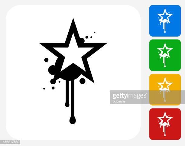 graffiti-symbol flache grafik-design - streetart stock-grafiken, -clipart, -cartoons und -symbole