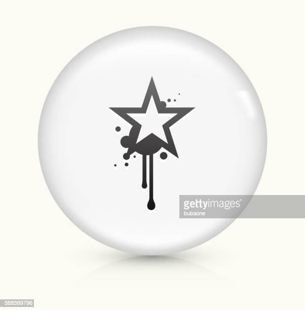 graffiti star symbol auf weißen runden vektor-taste - streetart stock-grafiken, -clipart, -cartoons und -symbole