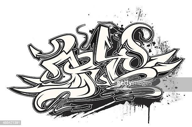 graffiti - modern rock stock illustrations