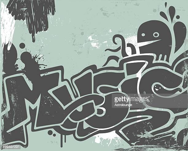 graffiti  - streetart stock-grafiken, -clipart, -cartoons und -symbole