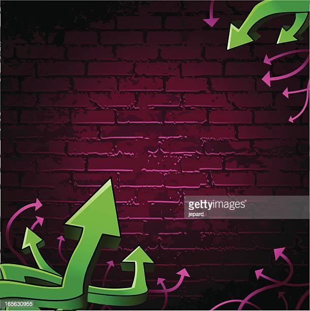 ilustrações de stock, clip art, desenhos animados e ícones de parede de graffiti - hip hop