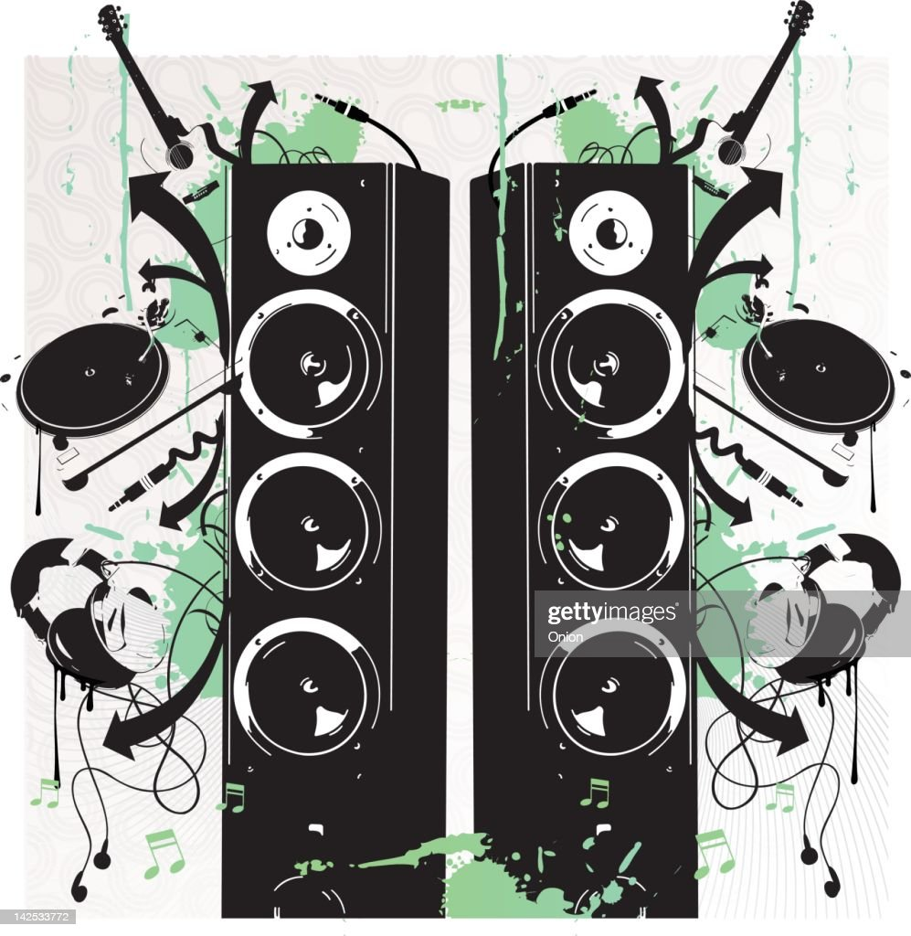 graffiti/Stencil Music - Illustration