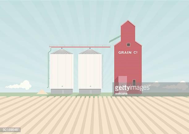 Convoyeur de Grain affiche