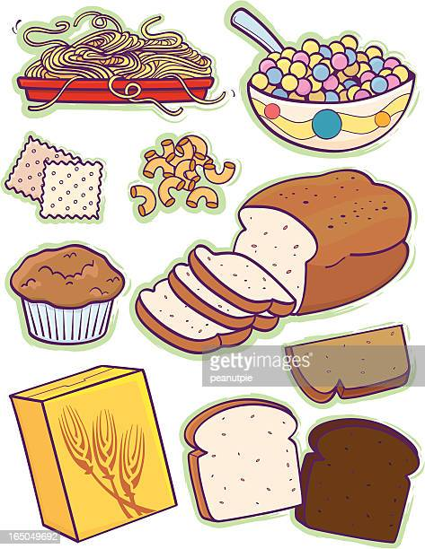 grain group - breakfast cereal stock illustrations, clip art, cartoons, & icons