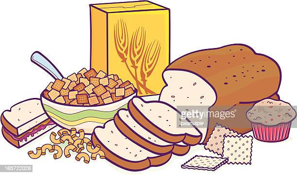 grain group - cracker snack stock illustrations, clip art, cartoons, & icons