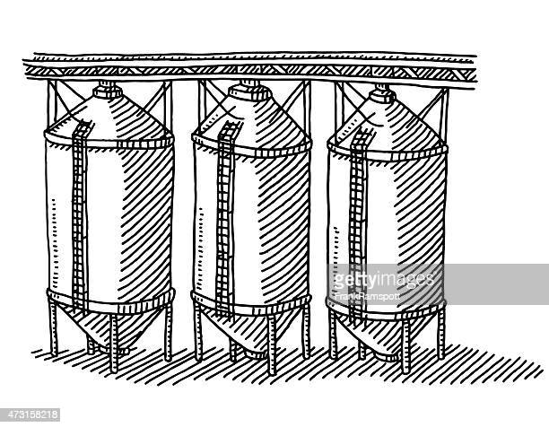 Grain Silo Drawing