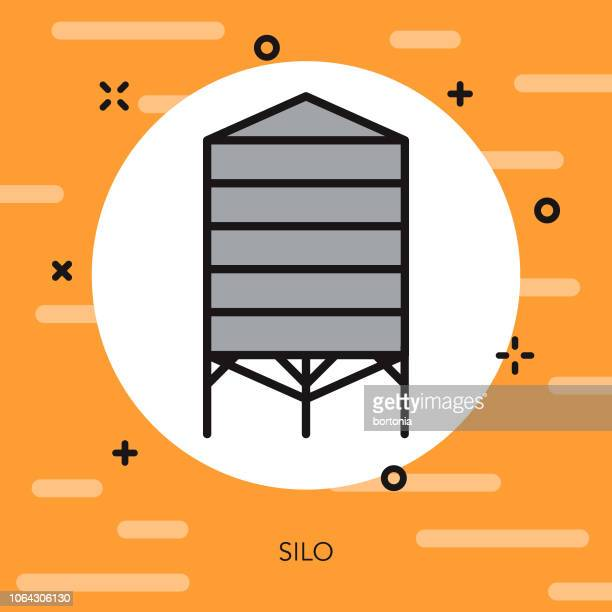 Grain Silo Thin Line Agriculture Icon