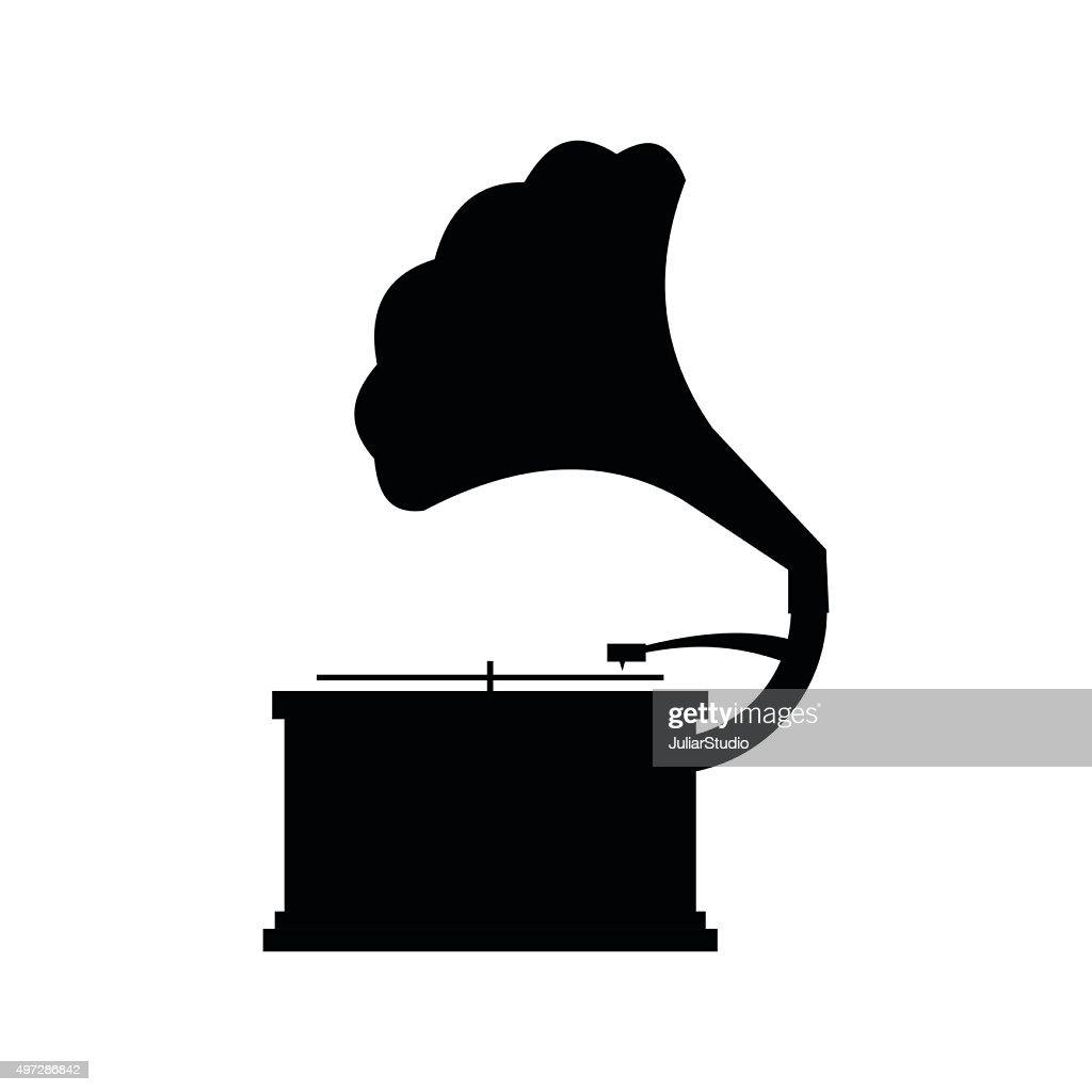 Gramophone black icon