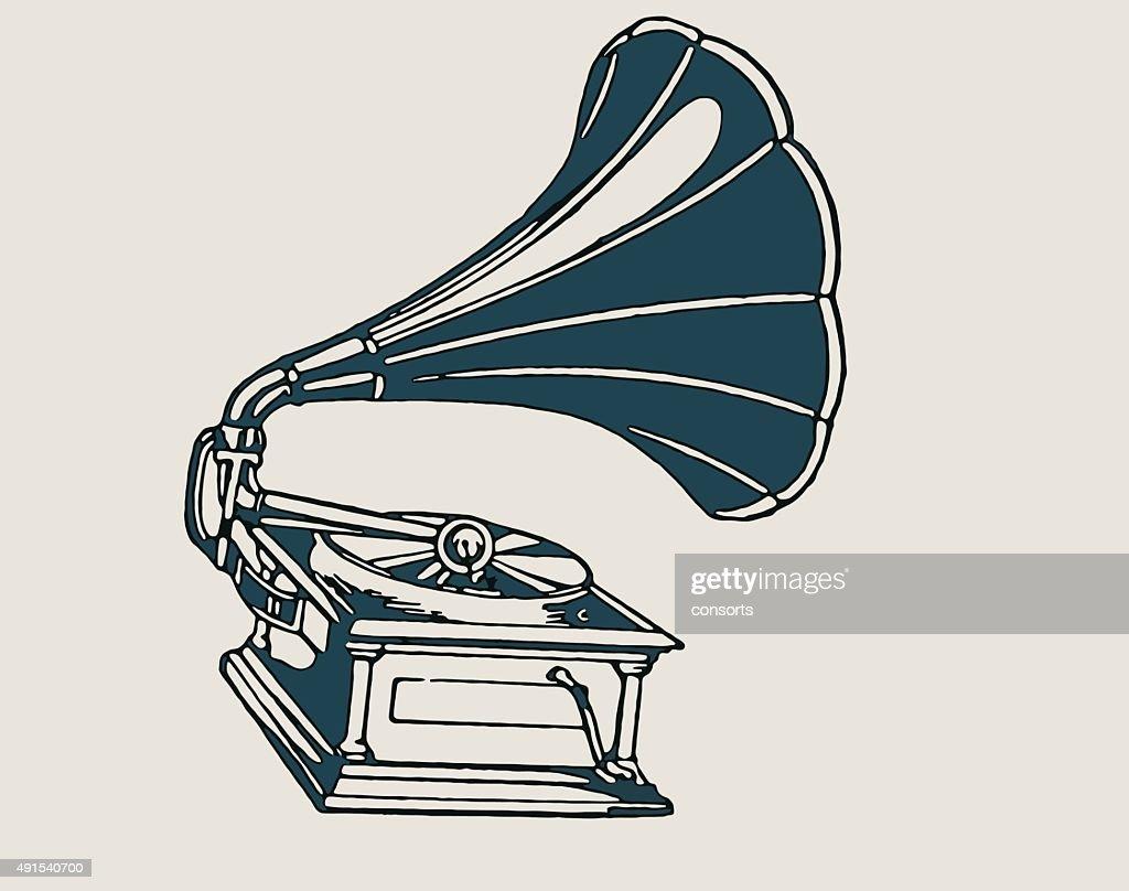 Gramophone Icon Isolated on White Background