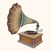 gramophone isolated vector illustration