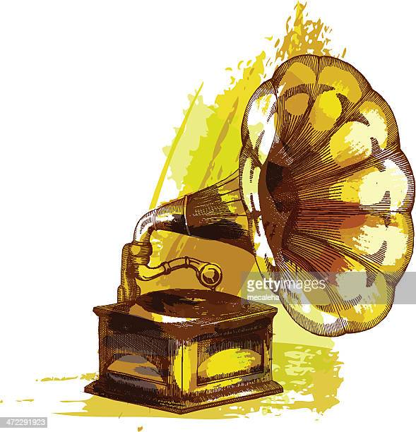 gramophone - gramophone stock illustrations, clip art, cartoons, & icons