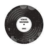 Gramophone vinyl LP record. Radio, rock'n'roll. Music sound. DJ retro