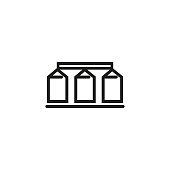 Granary line icon