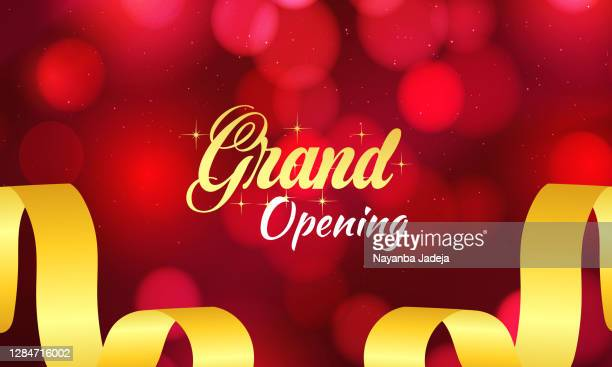 grand opening banner background stock illustration - opening ceremony stock illustrations