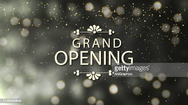 grand opening banner background - gala stock illustrations