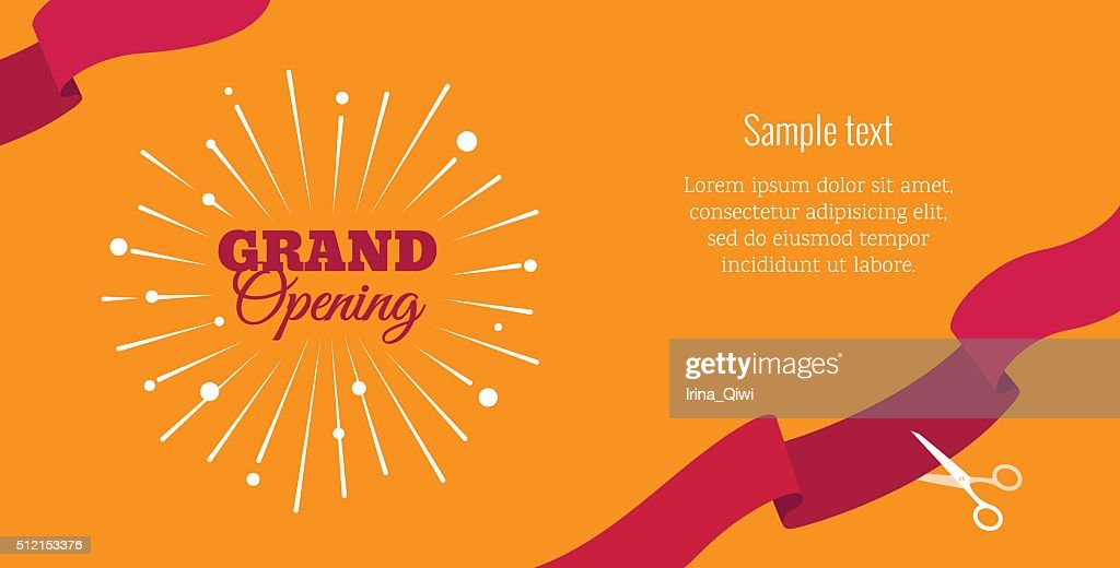 Grand opening horizontal banner