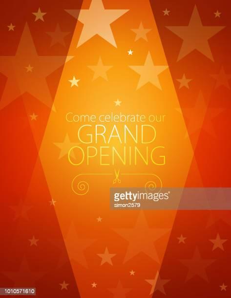 grand opening invitation design - opening ceremony stock illustrations