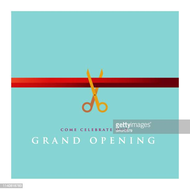 grand opening invitation design - opening event stock illustrations