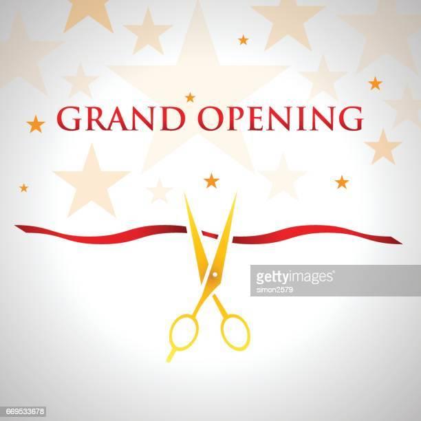 grand opening invitation design - publicity event stock illustrations
