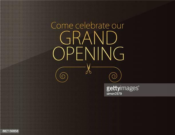 grand opening invitation design - opening event stock illustrations