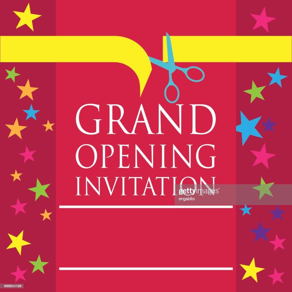 Grand opening invitation poster vector illustration vector art grand opening invitation poster vector illustration vector art stopboris Image collections