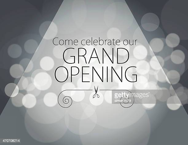 grand opening invitation - opening ceremony stock illustrations