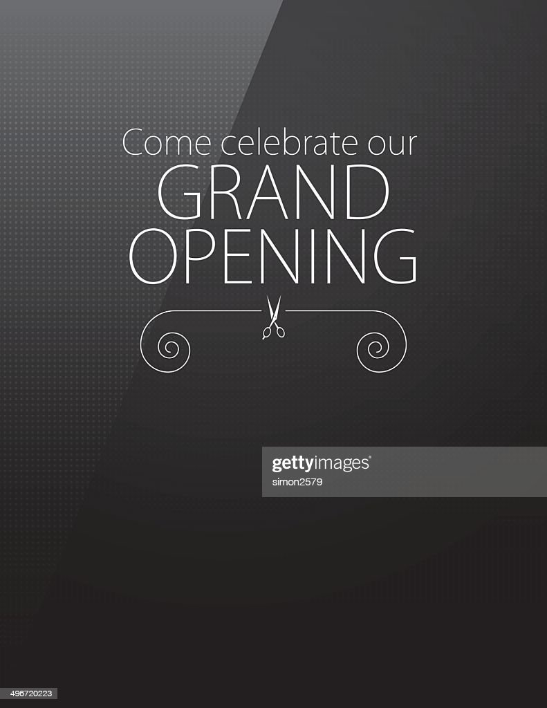 Grand opening invitation vector art getty images grand opening invitation vector art stopboris Gallery