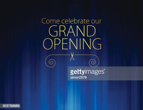 Grand opening luxurious invitation card vector art getty images keywords stopboris Gallery