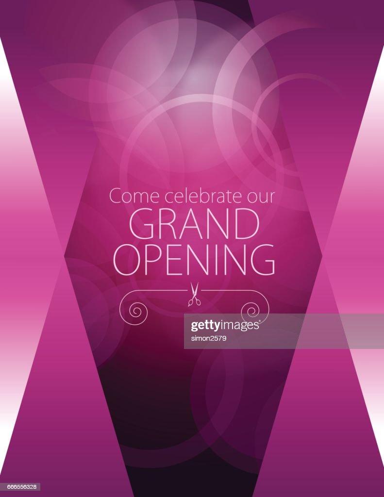 Grand opening luxurious design