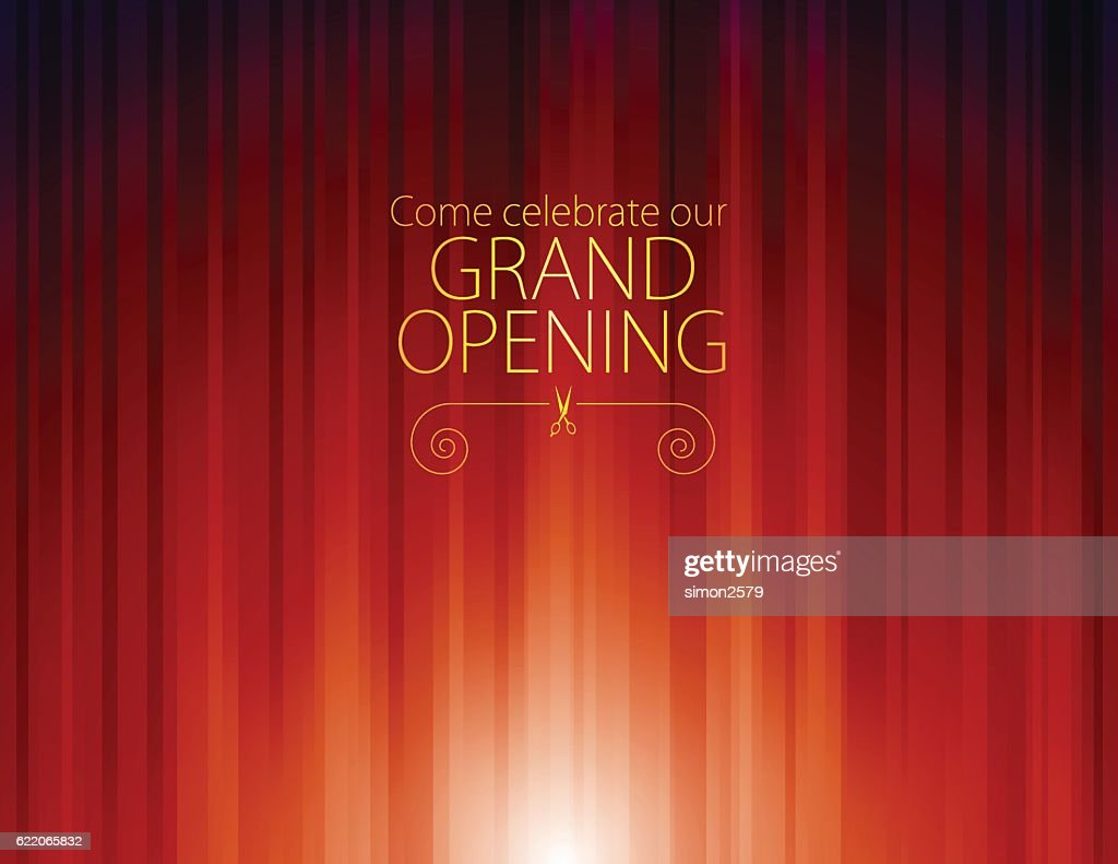 Grand opening luxurious invitation background