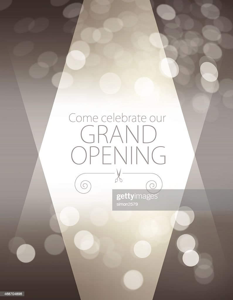 Grand opening luxurious invitation card