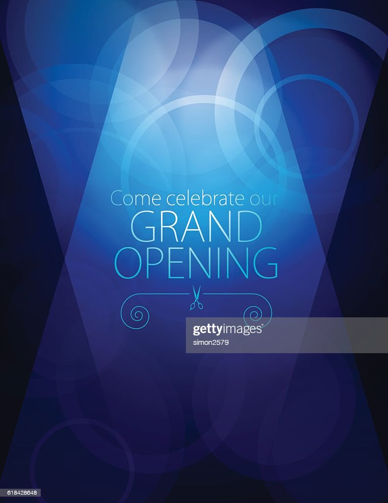 Grand Opening Luxurious Invitation Card High Res Vector