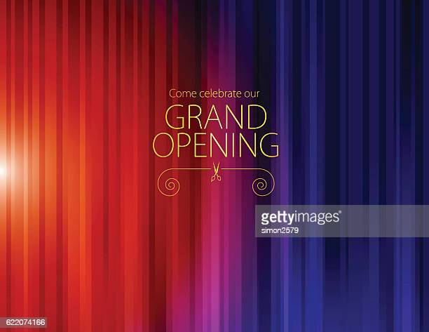 grand opening luxurious invitation card - launch event stock illustrations