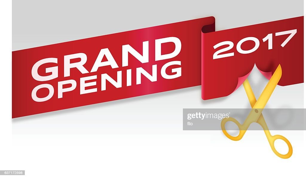 Ribbon Cutting Stock Illustrations And Cartoons
