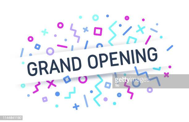 grand opening - store opening stock illustrations